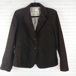 J.Crew Brown Wool Two Buttons Blazer Sz M